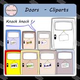 Knock Knock ! Doors Cliparts