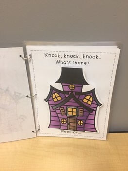 Knock, knock, knock.. Who's there?: A Halloween Themed Early Intervention Book