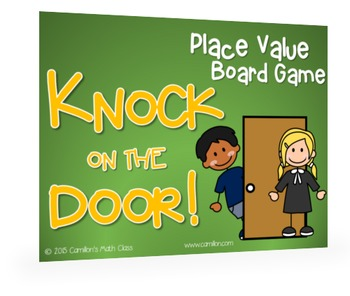 Place Value Cards & Board - Knock on the Door Game