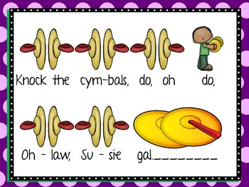 Knock the Cymbals - Half Note Song, Game, Manipulatives