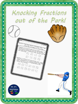 """Knocking Fractions Out of the Park """"Fraction x Whole Number"""""""