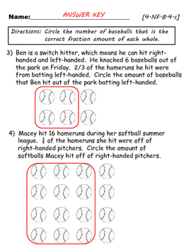 "Knocking Fractions Out of the Park ""Fraction x Whole Number"""