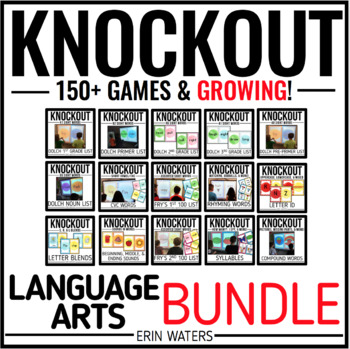 Knockout LANGUAGE ARTS MEGA Bundle {K-3 All 70+ Games}