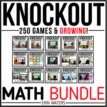 Knockout MATH MEGA Bundle {K-3 All 250+ Games}