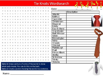 Knots Wordsearch Sheet Starter Activity Keywords Tying Ropes Scouting