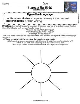 2014 Storm in the Night Readygen 3rd Grade Unit 3 Module A Lesson 5