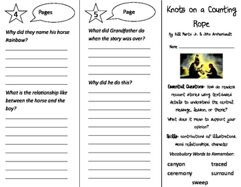 Knots on a Counting Rope Trifold - ReadyGen 3rd Grade Unit 3 Module A