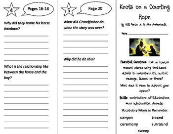 Knots on a Counting Rope Trifold - ReadyGen 3rd Grade Unit
