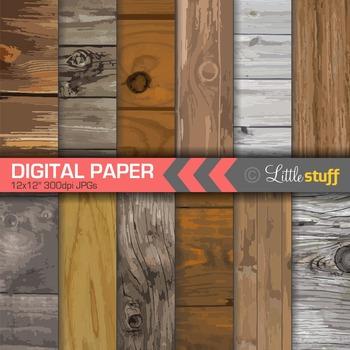 Knotted Wood Digital Backgrounds, Wood Pattern Digital Paper, Woodgrain