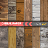 Knotted Wood Digital Backgrounds, Wood Pattern Digital Pap