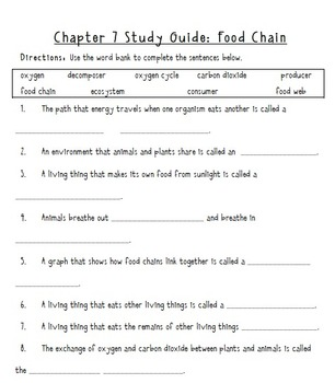 Know Atom: Unit 7- The Food Chain, Grade 3