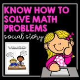 Know How to Solve Math Problems- Social Story