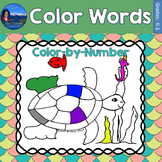 Color Words Math Practice Under the Sea Color by Number