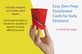 Know It All Enrichment Cards for early finishers