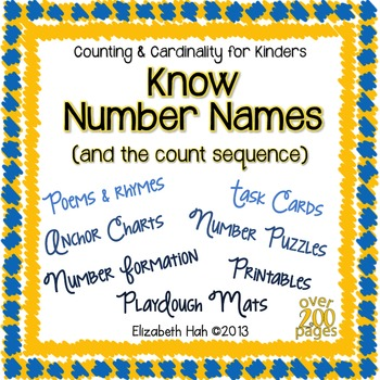Know Number Names and the Count Sequence: Kindergarten ...
