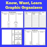 KWL Chart | KWL Graphic Organizers | KWL Chart with Lines