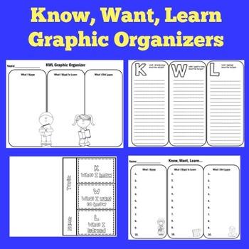 FREE KWL Graphic Organizers