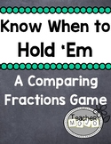 Know When to Hold Em A Common Core Aligned Equivalent Fraction Game