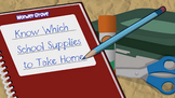Know Which School Supplies to Take Home Grade 1