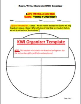 Know, Write, Illustrate (KWI) Organizer - Free Template