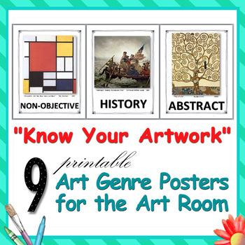 """""""Know Your Artwork"""" - 9 Printable Art Genre Posters for the Art Room"""