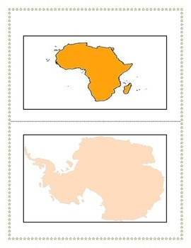 Know Your Continents, Flashcards, Games,Back to school, Small group activity