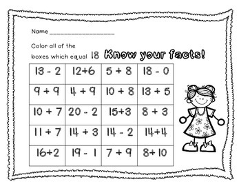 Know Your Facts! (addition and subtraction)