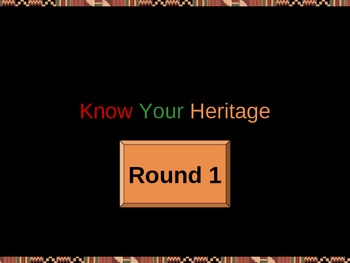 Know Your Heritage - Black History Game Show (Round 1)