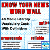 Know Your News: Media Literacy Word Wall