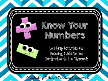 Addition, Subtraction and Rounding Low Prep Activities