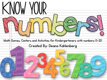 Know Your Numbers! {Math Games, Centers and Activities for 0-20}