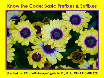 Know the Code:  Basic Prefixes & Suffixes