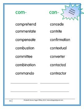 "Know the Code: Chameleon Prefixes - ""com- and con-"""