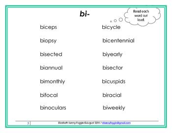 Know the Code: Latin prefix bi-