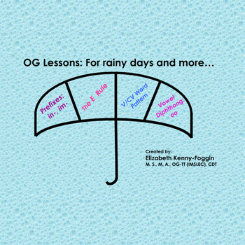 Know the Code: OG   Plans for a Rainy Day - Copy & Go!