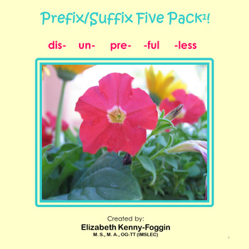 Know the Code:  Prefix/Suffix Five Pack # 1