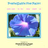 Know the Code:  Prefix/Suffix Five Pack Bundle # 2