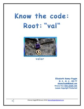 "Root  ""val"" Know the Code"