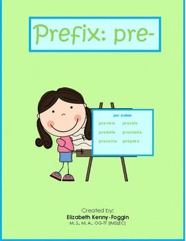"""Know the Code: Prefix """"pre-"""""""