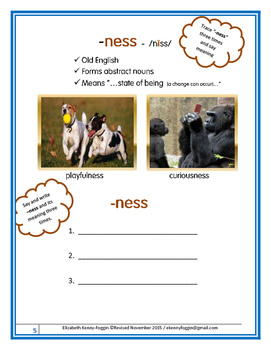 "Know the Code: Suffixes - ""ness"""