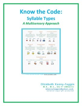 Know the Code: Syllable Types