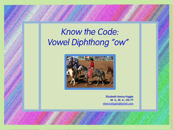 Know the Code: Vowel Diphthong ow (cow)