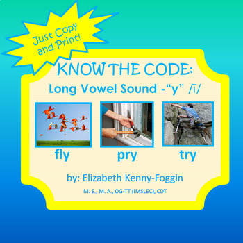 "Know the Code: ""Y"" - Long Vowel /i/"