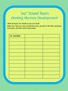 "Know the Code: ""ea"" Vowel Team"