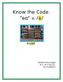 "Know the Code ""ea -short e sound"""