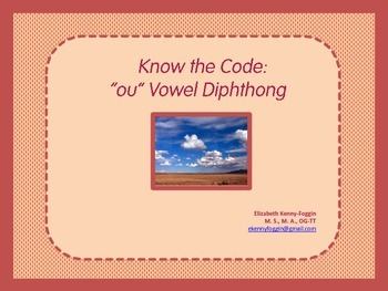 """Know the Code: """"ou"""" Vowel Diphthong"""