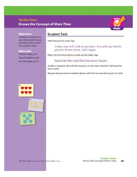 """Know the Concept of """"More Than"""" (Math Assessment PreK)"""