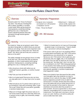 Know the Rules; Personal Safety Guidelines for Kids