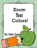 Know your colors! File folder game