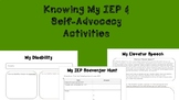 Knowing My IEP & Self-Advocacy Activities
